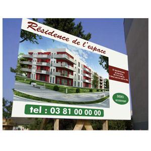 Panneau publicitaire immobilier sanotint light tabella for Pancarte publicitaire exterieur